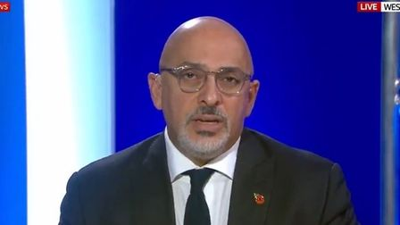 Picture of Nadhim Zahawi on Sky News