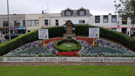 Weston Foral Clock. Picture: Weston Lions
