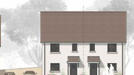 An artist's impression of the affordable homes. Picture: Freemantle Developments Ltd