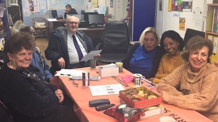 An image from a wellbeing cafe in 2019, prior to social distancing restrictions - meetings are curre