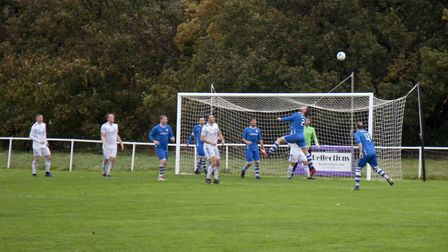 Action from Nailsea & Tickenham's clash with Middlezoy (pic Paul Harnden)