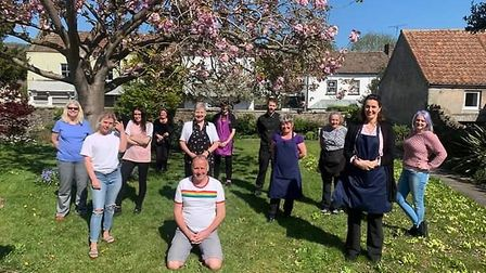 Christopher Dando and his team of carers at Court House Retirement Home. Picture: BBC Radio Somers