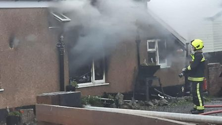 Multiple fire crews were called to Brent House Farm Milk Store on Saturday. Picture: Burnham Fire