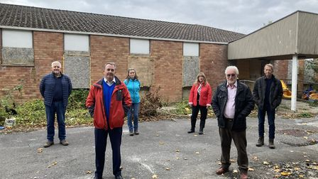 Dr Fox at Orchard View - the brownfield site which has been earmarked for housing.