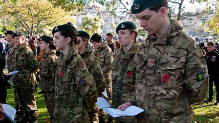 The Remembrance Sunday parade in 2019. Picture: MARK ATHERTON