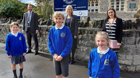 Pupils and staff of Uphill Village Academy, which has joined the Cabot Learning Federation. Picture: