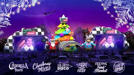 Christmas movies, a drive-in panto, silent disco and stand up comedy will be avaible at the Parking
