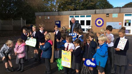 Ian Hind has retired as Winscombe Primary School caretaker after 42 years in the job.