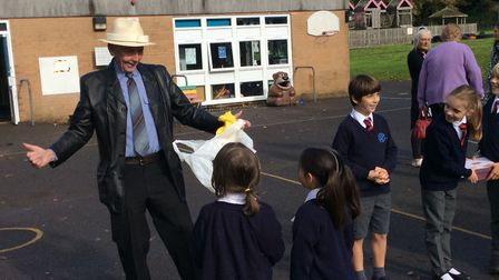 The school was known as Woodborough Primary School when he first joined as caretaker.