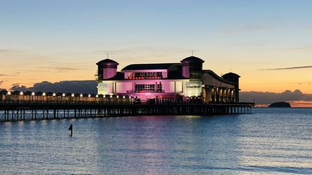 Weston Grand Pier will shine pink in October in support of Breast Cancer Awareness Month.