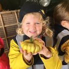 Youngsters paid a visit to Triggols Farm in Tickenham to pick their own pumpkins. Picture: Tracey