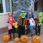 Children from St Nicholas' Chantry School dressed up for the pumpkin trail.