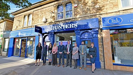 The team at Hunters estate agents in Portishead.
