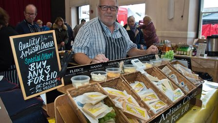 The Glastonbury Cheese Company at eat:Burnham food festival in 2019. Picture: MARK ATHERTON