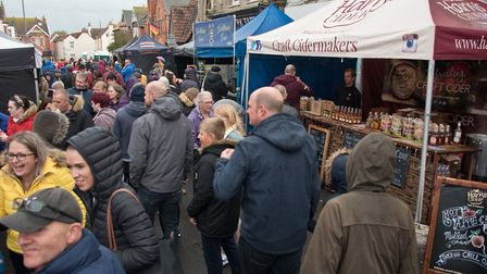 People lining the streets at eat:Burnham food festival in 2019. Picture: MARK ATHERTON