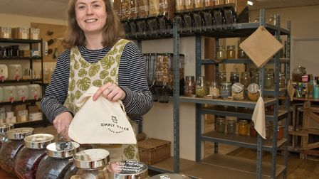 Bethan Walker of Simply Green Zero Waste shop at 26 Victoria Square, Portishead. Picture:
