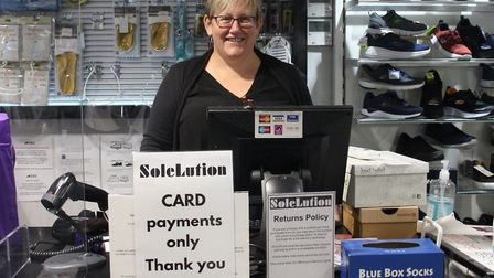 Tanya Marriott of SoleLution in Portishead High Street.Picture: Tracey Fowler