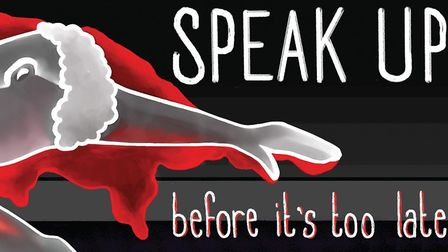 Logo for Speak Up campaign, the design is a collaborative work of young people and student animators