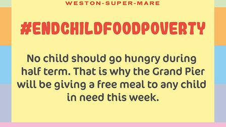 Weston Grand Pier will join Marcus Rashford's End Child Food Poverty campaign.