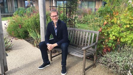 Stephen Merchant visited St Peter's Hospice to launch its year-long fundraising campaign.