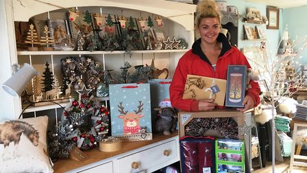 Bex with some of the new stock at The Country Cabin