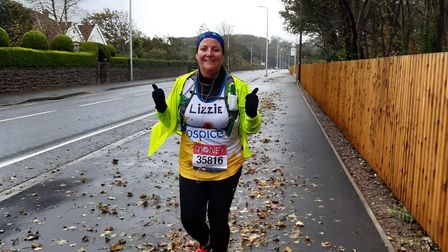 Elizabeth Sprules is raising money for Hospice UK, by completing a virtual London marathon by runnin
