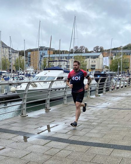 Ben Smith training for the 401 Foundation USA Challenge, which is due to take place in 2021. Pictu