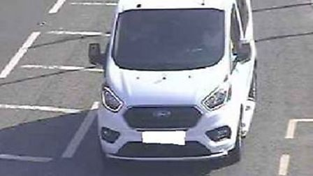 Police have released this image to track down a white Ford transit as part of the investigation. P