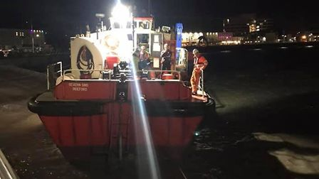 The coastguard helped the vessel to refloat after it became grounded.