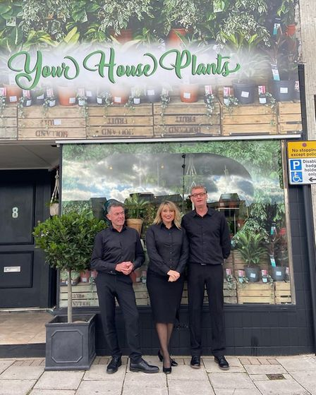David Rickett and Deanna and Sean Swords. Picture: Your HousePlants
