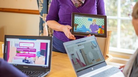 Virtual infection control training for key workers to help prevent covid transmission in carehomes.
