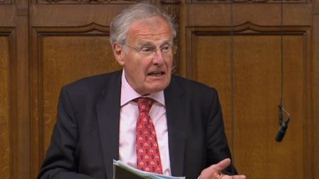 Christopher Chope speaking in the House of Commons. Photograph: PA.