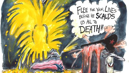 The election campaign has reached boiling point says Michael White. Photo: Martin Rowson