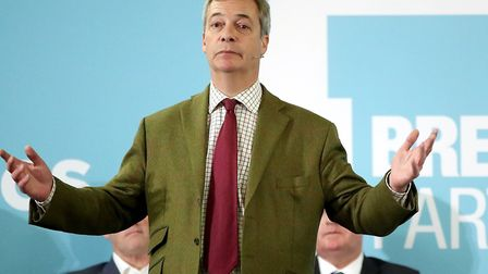 Brexit Party leader Nigel Farage told supporters in Hull that he is very worried about splitting the