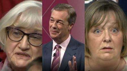 Nigel Farage is criticised for his 'breaking point' posters on BBC Question Time. Photograph: BBC.