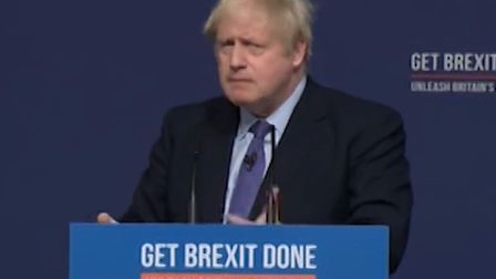 Boris Johnson gave a shambolic reply when he was asked about the Conservative party being trusted af