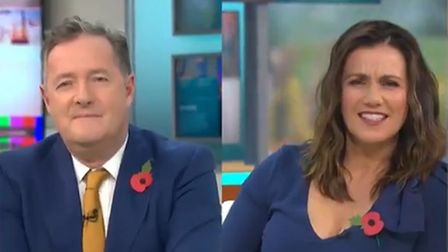Piers Morgan and Susanna Reid watch the minister squirm