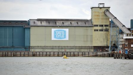 A view of the Tate + Lyle sugar factory in Silvertown, east London.