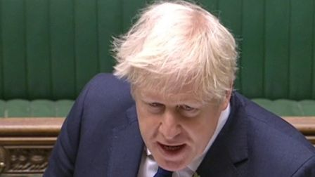 Boris Johnson speaking at prime minister's questions in the House of Commons