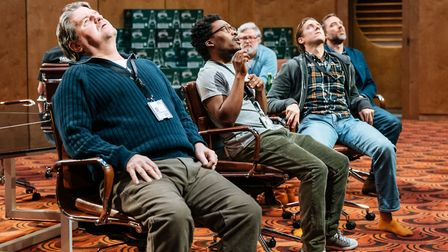 The cast of Annie Baker's The Antipodes at the National Theatre. Photo: Manuel Harlan