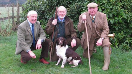 Brian Hayes, NGO Educational Trust; Barry Atkinson with Spider 2; and Birch Grove Estate headkeeper