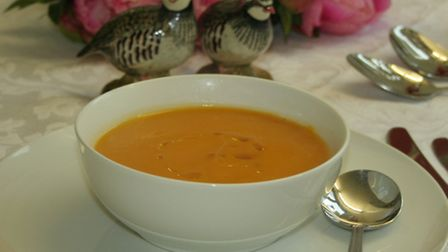 The roasted butternut squash soup is a tasty and healthy option