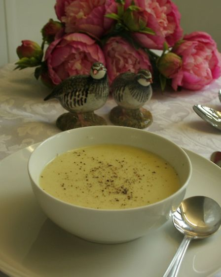 Potato, leek and onion soup is just one possibility for your soup course
