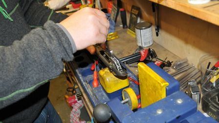 Stripping the rifle of stock, trigger and scope prior to machine work