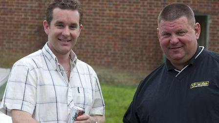 Richard Faulds and George Digweed before the 2007 shoot-off