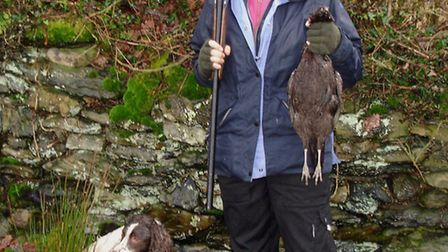 """Helena with her first pheasant: """"I'm proud to say I shot it with my first attempt at a live quarry!"""""""