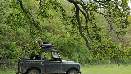 Shooting from the Land Rover