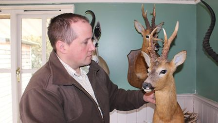 Roy with his magnificent buck