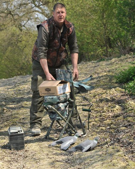 The Delux Spin seat has a handy storage area for ammo - or a nice packed lunch!