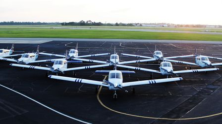 The first of CAE's new Piper aircraft